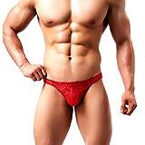 Arjen Kroos Homme String Sexy Thong Tanga Respirant Slips sous-vêtement Dentelles Florales