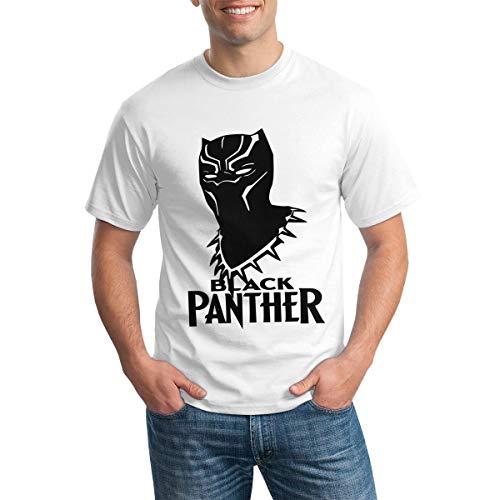 Negro Pa_NTH-Er Camiseta Ajustada de algodón de Manga Corta para Hombre Negro 5X-Large Blanco