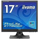 iiyama モニター ディスプレイ E1780SD-B1 (17インチ/スクエア(SXGA)/TN/D-sub,DVI-D/3年保証)