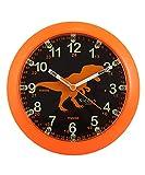 Kiddus KI50119 Dino IT Orologio Pedagogico per Bambine e Bambini, Analogico, Impara l'orario con il nostro semplice sistema Time Teacher, esercizi inclusi