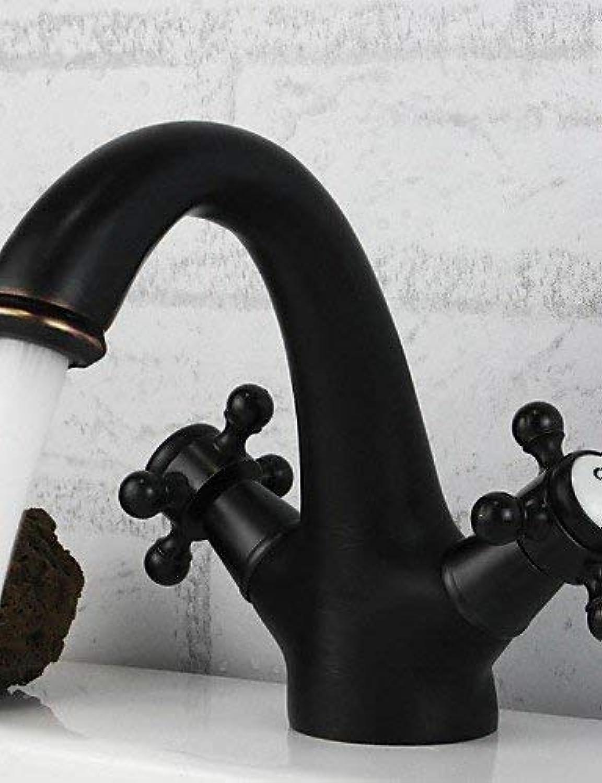 Marcu Home Traditionell weit verbreitet Zwei Griffe EIN Loch in l eingerieben Bronze Waschbecken Wasserhahn