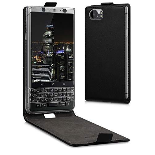 kwmobile Hülle kompatibel mit BlackBerry KEYone (Key1) - Handy Hülle Handyhülle - Flip Schutzhülle in Schwarz