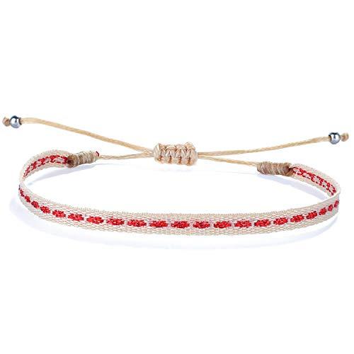 C·QUAN CHI Bracelet D'enroule Bracelets Brin à La Main D'amitié Bijoux De Bracelet à Breloques Et Imperméables pour Femme Cadeau d'anniversaire Réglable
