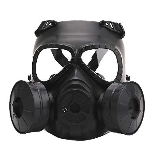 Wwman Airsoft paintball masker beschermend masker met bril Fan CS Tactical Face volledig gezicht, veelkleurig, enkele/dubbele ventilator
