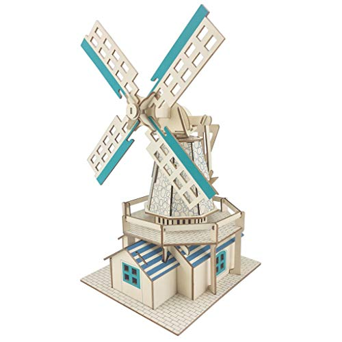 Learn More About Lxrzls Windmill Construction Toys/Home Small Decorative Building Model/Children Adu...
