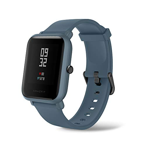Amazfit Bip Lite by Huami with 45-Day Battery Life,24/7 Heart Rate 1.2 Inch Always-on Touchscreen 3 ATM, Blue