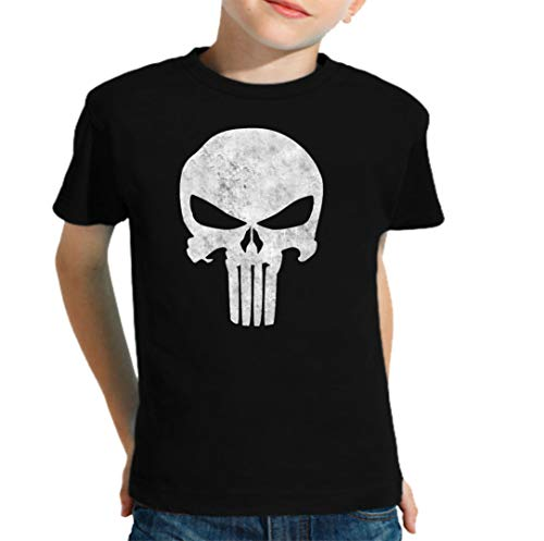 The Fan Tee Camiseta de NIÑOS Punisher Castigador Comic 003 11-12 años