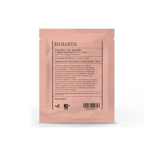 BIOEARTH Maschera Viso Macchie E Pigmentazione Con Gloconolattone Monouso 15 ml