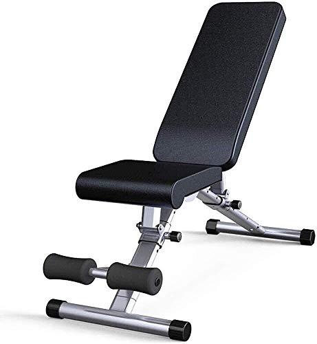 Bancos de pesas ajustables Utility, Gym Training Fitness Home Ejercicios de levantamiento y entrenamiento de fuerza plegables para entrenamiento de cuerpo completo Entrenamiento de cintura abdominal