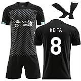 Mane 10# FIRMINO 9# Keita 8# Las Camisetas de casa y de visitante se Pueden Personalizar. Uniformes de fútbol para niños de Verano. Temporada de 19-20 Adultos. Jersey de fútbol + Pantalones cort