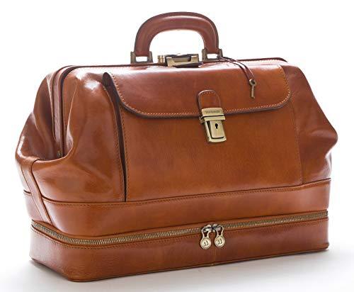 Arzttasche aus Leder - D&D0201 - Honig - Made in Italy