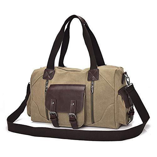 Amazon Black Sales Friday Cyber Sales Monday Ofertas y ventas - Bolsa grande de lona para el hombro, mochila de viaje, bolsa de viaje para mujer y hombre, color Verde, talla Large