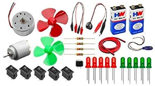 PGSA2Z New Electronics 30 Items Loose Parts Materials Science Project Kit