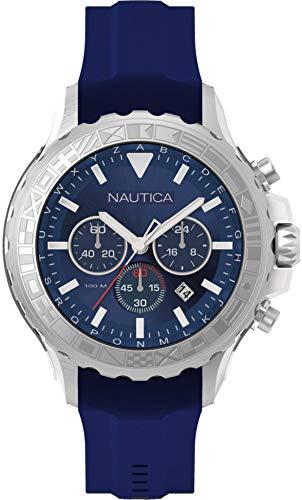 Nautica Reloj Analógico para Hombre de Cuarzo con Correa en Silicona NAD18534G