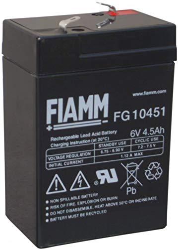 BATTERIA RICARICABILE FIAMM FG10451 6V 4,5AH - FIM FG10451