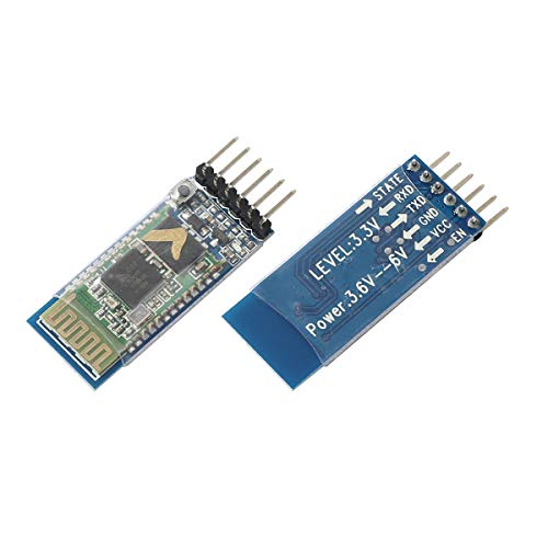 HC-05 6Pin Wireless Bluetooth Module, RF Transceiver Master-Slave 2in1 RS232 TTL Serial Configuration at Mode Breakout Board fit Arduino