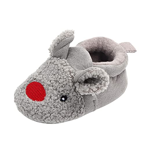 Toddler Infant Baby Boys Girls Slipper Boots Crib Shoes Prewalker Shoes Soft Sole Sneaker Plush Furry House Slippers