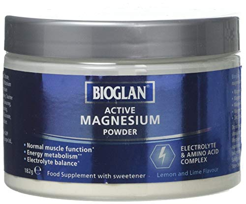 Bioglan Active Magnesium Powder | Zinc | Vitamin B2 | Calcium | Potassium | Supports Muscle Function | 182g, 1 Units
