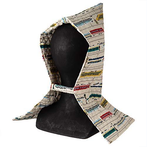 【Amazon.co.jp 限定】KIYOHARA 防災頭巾 子供用 トレインマップ オフホワイト 横25cm×縦44.5cm MOW107-HD