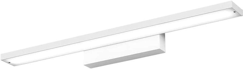YWJ LED Spiegel Scheinwerfer Wasserdicht Und Feuchtigkeitsfest Badezimmerspiegel Scheinwerfer Kreative Moderne Minimalistische Aluminium Spiegellicht (Farbe   B-Weiß, gre   16w80cm)