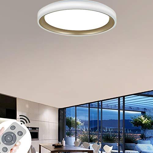 COOSNUG LED Deckenleuchte 60W Dimmbar Gold Acryl Sternenlicht Deckenlampe Lampe Kreative Energiesparlampe für Flur Wohnzimmer Schlafzimmer Küche Büro mit Fernbedienung