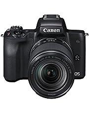 Canon EOS M50 systeemcamera spiegelloos - met lens EF-M 18-150 mm IS STM (24,1 MP, draai- en zwenkbaar 7,5 cm (3 inch) touchscreen-LCD-display, Digic 8, 4K video, OLED EVF, WLAN, Bluetooth), zwart