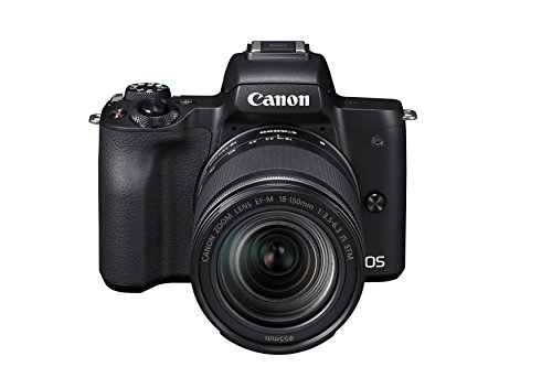 Canon EOS M50 Systemkamera spiegellos - mit Objektiv EF-M 18-150mm IS STM (24,1 MP, dreh- u. schwenkbares 7,5cm (3 Zoll) Touchscreen-LCD Display, Digic 8, 4K Video, OLED EVF, WLAN, Bluetooth), schwarz