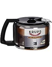 Krups F03442 glaskanna espresso-/kaffebryggartillbehör med lock, 10 koppar, svart