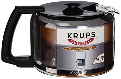 Krups KRU 034-42 Jarra para cafeteras con Tapa, Negro y Transparente, 10 Tazas