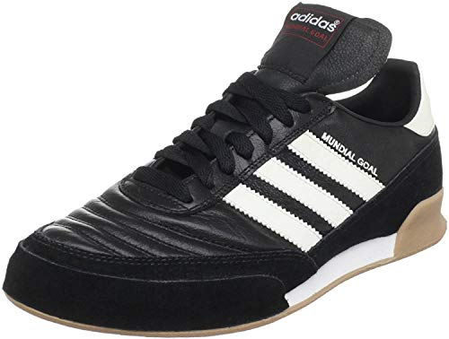 adidas Men's Mundial Goal Soccer Shoe, Black/White/White, 11 M US