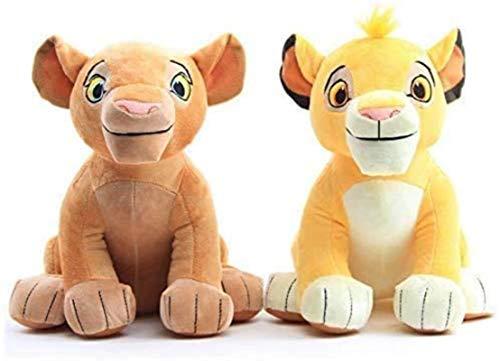 DINEGG Muñecas de Peluche 2 unids El Rey del león Simba Nala de Peluche de Peluche de Peluche YMMSTORY