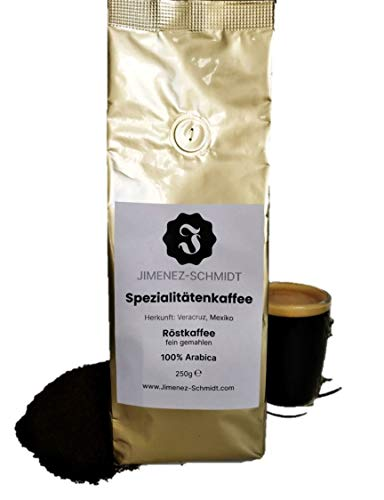 Spezialitätenkaffee aus Mexiko 250g| Röstkaffee fein gemahlen 100% Arabica| Langsame milde Trommelröstung| Säurearm und sortenrein| Frische Ernte| Ohne Zusatzstoffe