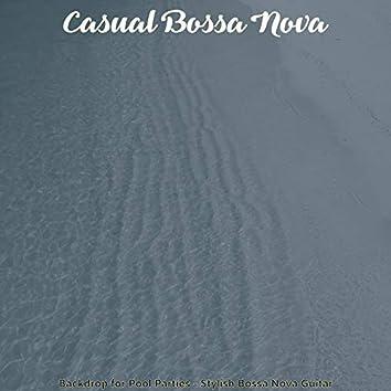 Backdrop for Pool Parties - Stylish Bossa Nova Guitar