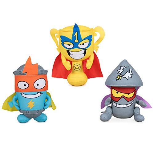 Rivals of Kaboom Pack 3 Peluches Superzings Kid Kazoom Pow Position Tim Rocket Peluche Original 33cm Super Soft Peluche Superthings Grandes
