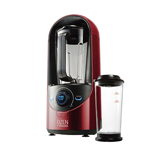 Pado Ozen 310 Vacuum Blender, Countertop Kitchen Blender for Nutrient Dense Smoothie Blends That Don't Separate, Plus Extra Vacuum Storage Container-Red