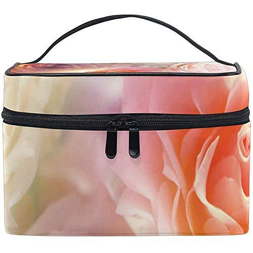 Sac cosmétique, Roses romantiques Voyage Organisateur de Maquillage Sac cosmétique étui de Train Portable pour Femmes Filles