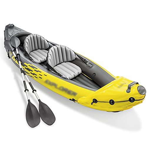 Priority Culture Kayak Hinchable Apto para 2 Personas Canoa con Chaleco Salvavidas Kayak De Mar Apto para Pescar Y Jugar En La Costa. (Color : Yellow, Size : 312 * 91cm)