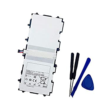 aowe Replacement Battery Compatible with Samsung Galaxy Tab 2 10.1 Inch GT-P5113 P7500 P7510 SCH-I915  VERIZON  SGH-I497 SGH-I497  AT&T  SGH-I497 with Opening Tools