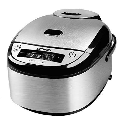 Rice Cooker, ZOINADA 16 Cups Cooked (8 Cups Uncooked) All-in-1 Programmable Multi Cooker, Stew,...