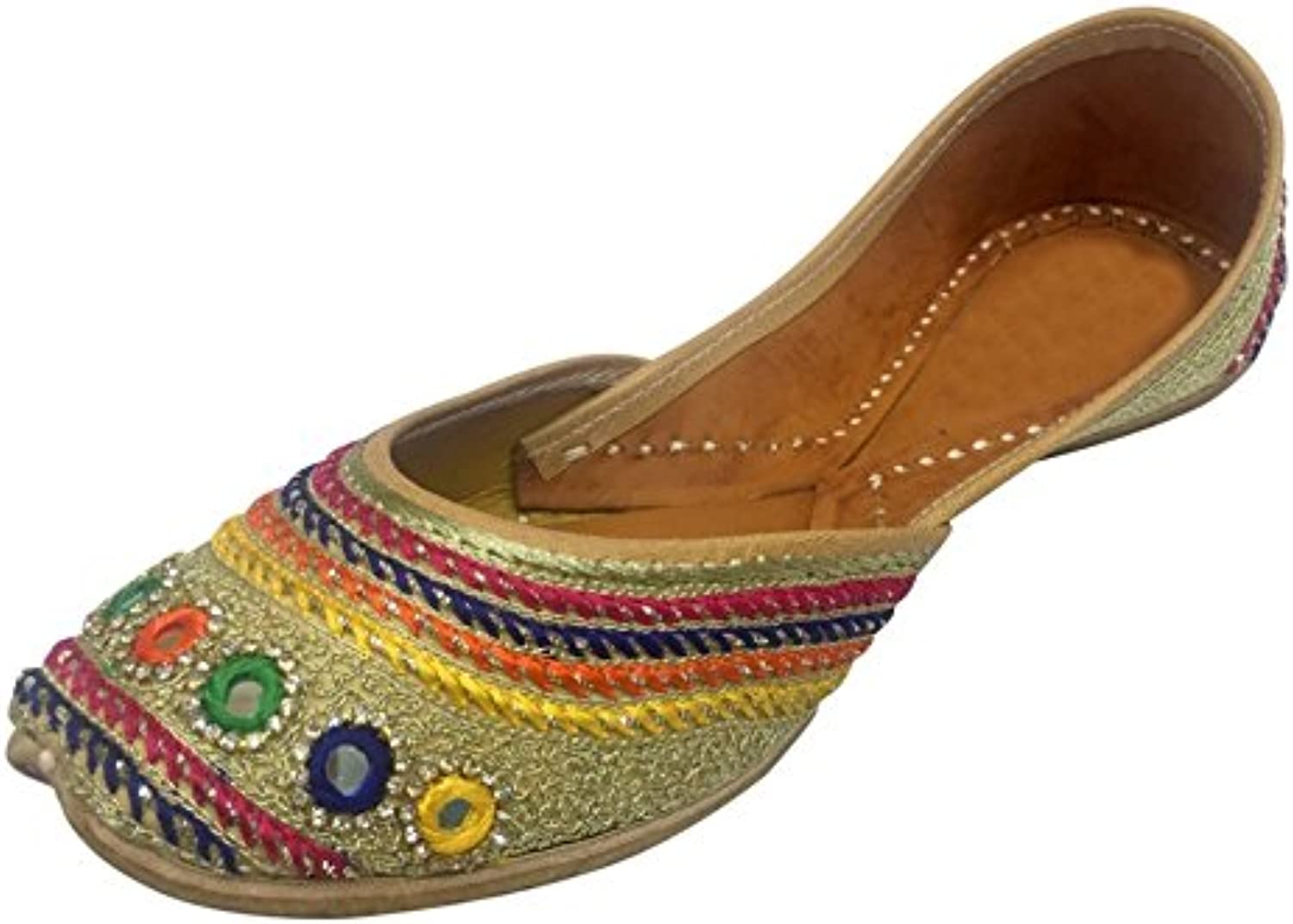 Step n Style Ethnic shoes Indian shoes Flat Beaded Sandals Ballet Khussa Boho Jutti