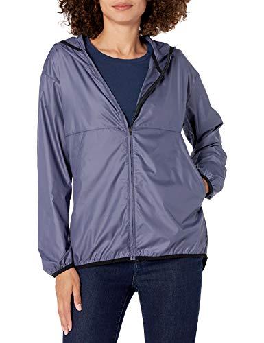 Amazon Essentials Full-Zip Packable Windbreaker Fashion-Sweatshirts, Staubblau, US L (EU L - XL)