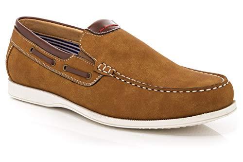 Franco Vanucci Men's Allen Slip on Boat Shoes Tan