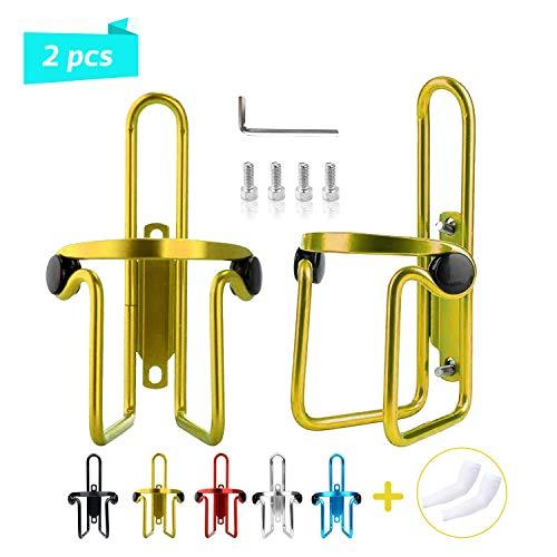 HappyLohas 2 Paquete portabidones, portabidon, portabidon Bicicleta, sostenedor de Jaula de Agua Botella para Bicicleta de aleación de Aluminio Ligero