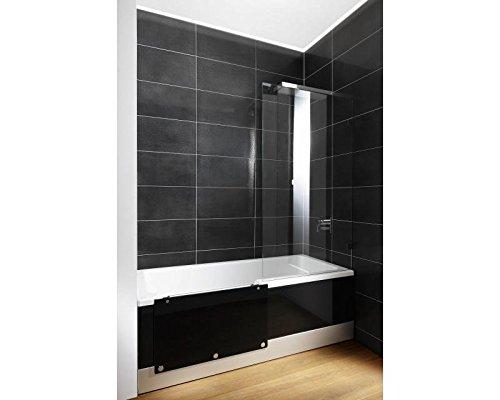 Repabad Easy-In M badkuip met deur en douche 170 cm wit nis rechts front glas sneeuw met montage met geluid Bluetooth boxen