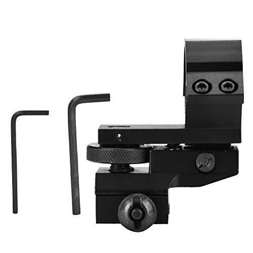 DEWIN Monturas de Alcance de Rifle - Soporte táctico Duradero de Linterna de mira láser de Alcance de Rifle de 25,4 mm, para Sistema de riel de 20 mm