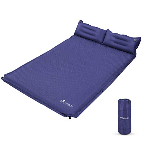 YOUKADA Sleeping-Pad Foam Self-Inflating Camping-Mat for Backpacking Sleeping Pad Double Sleeping...