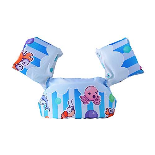 WZPG Flotador de natación de bebé no Inflable, Manga del Brazo de Anillo natación Flotante, brazaletes Infantil flotable, Adecuado para el Equipo de Seguridad de Piscina Infantil Entre 2 y 6 años,H