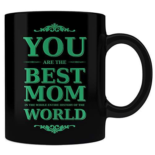 """Taza divertida de regalo para mamá con texto en inglés""""You are the best mom"""", regalo de cumpleaños de…"""