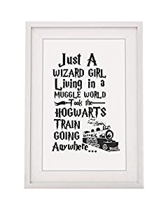 Looking For That Extra Special Harry Potter Fan Day Present? Look No Further. This Framed Print Is Sure to Delight That Special Muggle. Superb Quality – 12 x 10 inch WITH MOUNT. This Lets Make out more keepsake framed print can be hung on a wall or i...