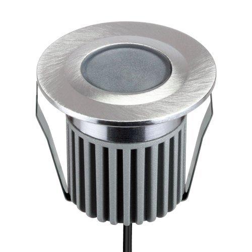 parlat lampada LED da incasso da Parlat (1 LED di potenza bianco caldo in alluminio, impermeabile, 12V AC, 1 lampada a confezione